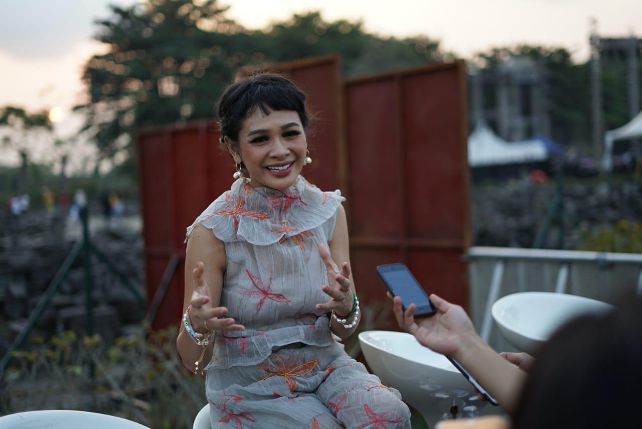 Andien di Panggung Prambanan Jazz 2019 | Fotografer Naufal Ilham