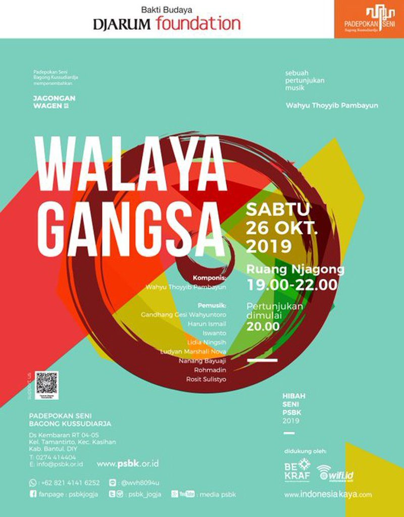 Padepokan Seni Bagong Kussudiardja (PSBK) Gelar Walaya Gangsa