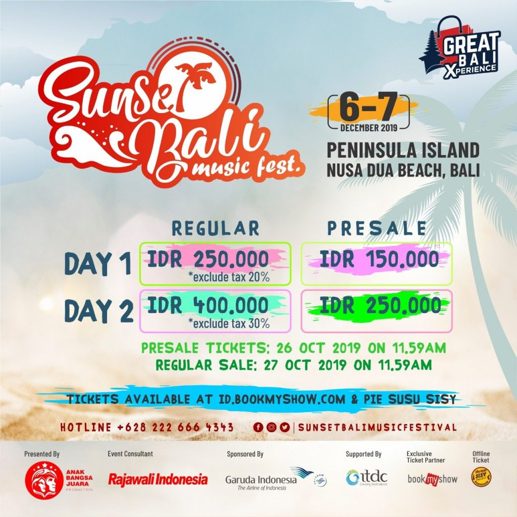Sunset Bali Music Festival 2019